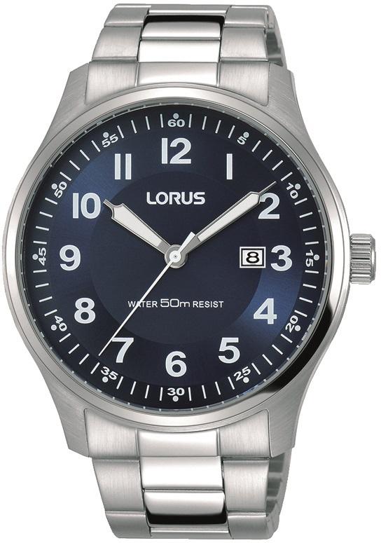 Herrenarmbanduhr Lorus RH937HX9 mit Edelstahlgehäuse und Datumsanzeige